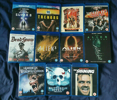 HORROR SCI FI BLU RAY BUNDLE Dreamscape American Werewolf Tremors Shining Alien
