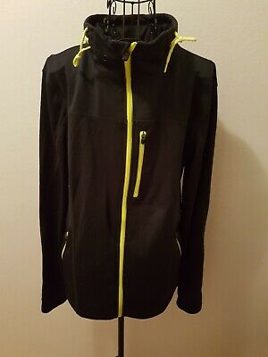 Jacket (lightweight) by Crane - Navy Blue with Yellow Trim, Size S