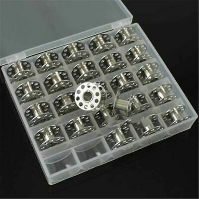 125Pc Sewing Machine Bobbins Spools Metal Bobbin For Brother Janome Singer Craft