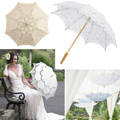 Lace Parasol Umbrella Victorian Style Women Sun Parasol Wedding Party Decoration