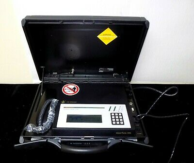 Magnificent Rare Glocom Global Satellite Phone 2000t / Briefcase Station