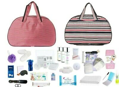 QUALITY Pre-Packed Maternity Hospital Essential Baby Bag & LUXURY Toiletry Kit