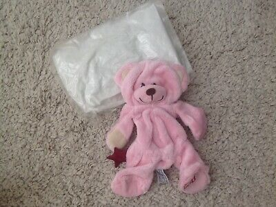 Teddy Bear making kit Pink soft toy & stuffing no sewing