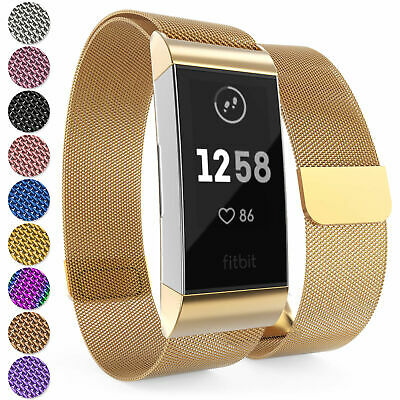 For Fitbit Charge 4/3/SE Strap Replacement Milanese Bands Stainless Steel Magnet