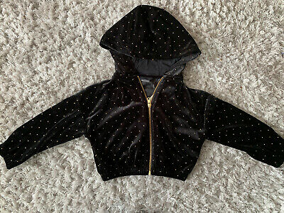 Next Studded Velour Zip Up Hoodie Age 4 Bnwt