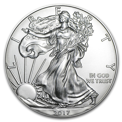 2017 1 Troy oz SAE Silver Bullion Coin American Eagle BU imair-tight capsule