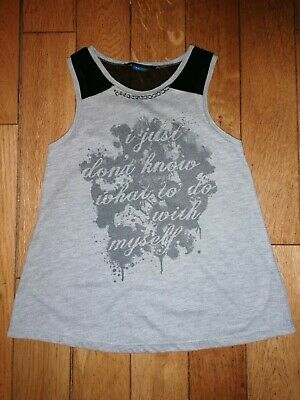 *River Island* Gorgeous Girls Grey Chain Design Vest Top Holiday Summer