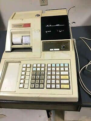 Samsung ER-3715 Electronic Cash Register With Cash Drawer and Key As Is