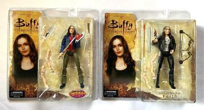 Buffy Vampire Slayer Faith End of Days + Graduation Day Action Figures 2005 NM