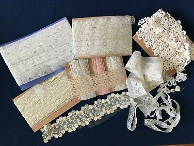 Large Collection*Antique/Vtg French Lace Trim Edging*Approx 60 YARDS of Lace!