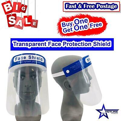 2pc Face Shield Full Face Visor Protection Mask Shield Transparent Clear Plastic