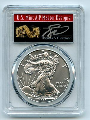 2020 (P) $1 Silver Eagle Emergency Issue PCGS MS70 FDOI Thomas Cleveland Arrows