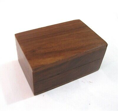 Charming Wooden Wood Small Trinket Pill Box