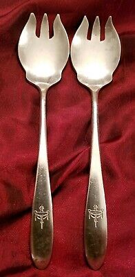 """Hotel Muehlebach Kansas City Silver 5"""" Forks by Reed and Barton - Nice!"""