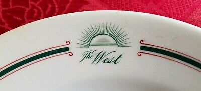 The West Hotel Sioux City, Iowa Dinner Plate by John Maddock & Sons
