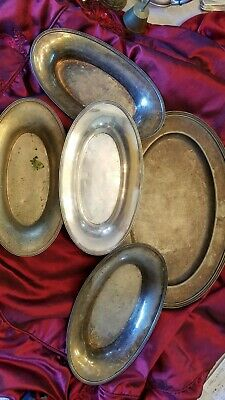 Unknown Monogram Piece Hotel Tray Set by R Wallace