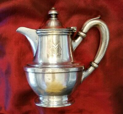 Unknown Hotel Or Rail Silver Teapot by R Wallace Silver Co