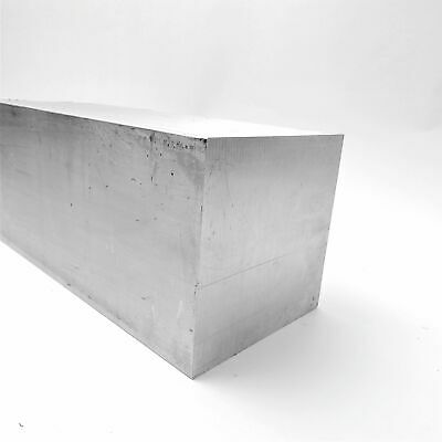 "5"" x 5"" Aluminum  6061 SQUARE Solid  FLAT BAR 9.875"" Long  sku M126"