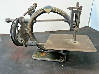SEWING MACHINE, LATE 1800's, HAND PAINTED