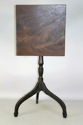 A Rare 18Th C Salem Ma Federal Carved Tilt-Top Candlestand In Original Surface