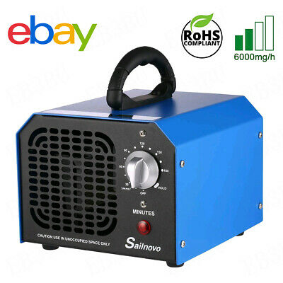 Home Use Commercial Ozone Generator 6000mg O3 Air Purifier Deodorizer Sterilizer