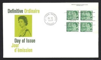 Canada    # 543 URpb    QUEEN ELIZABETH II     Brand New 1971 Unaddressed Cover