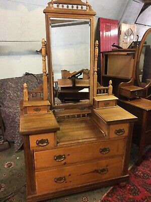 Antique Stripped Dressing Table