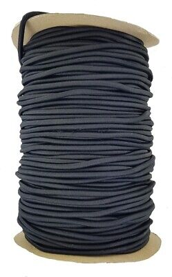 Elastic Cord 6 mm round sold in lengths of 2,3,4,5, Metres Black
