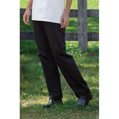 Womens Chef Pant in Black - 6XLarge
