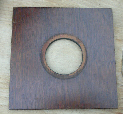 "6"" 152mm square  wooden  Lens board panel 54mm hole"