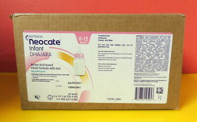 1 case (4 cans) - Neocate Infant with DHA/ARA 14.1 oz/can - SEALED CASE