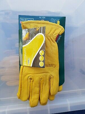 Town & Country Leather Gloves Ladies Womens Small Gardening Worn See Description