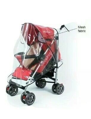 Quality Universal Buggy Pushchair Stroller Pram Transparent Rain Cover Vent Baby