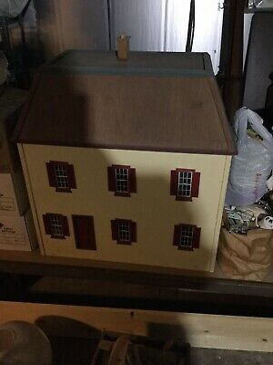 vintage wooden dollhouse house