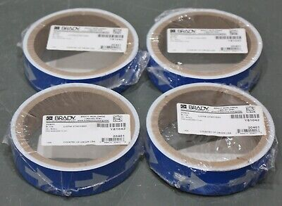 """(100) Brady Air Pipe & Duct Marker 20401, 1"""" x 8"""", Blue with White Arrows, B-736"""