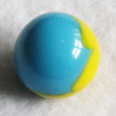 "Peltier Marble Peerless Patch Aqua Blue Yellow Marbles 5/8"" MINT"