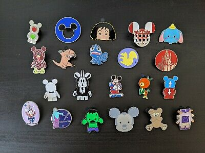 Disney Parks Authentic Trading Pin Lot 21 Pieces