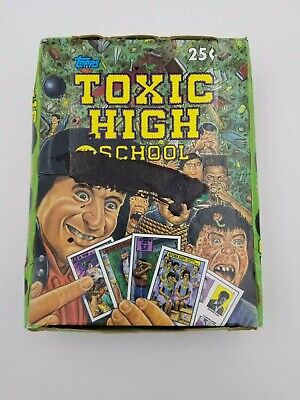 1991 Topps Toxic High School Stickers Trading Card Wax Box 48 Unopened Packs