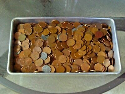 Lincoln Wheat Cents, 5 Pounds, 40's and 50's Mixed Dates and Mints!