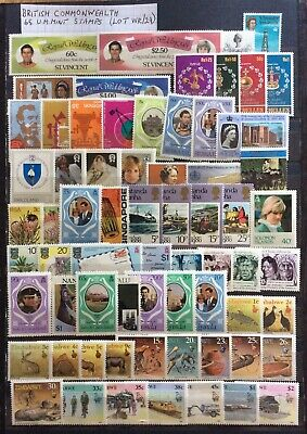 British Commonwealth 65 Stamps Mint Collection All Different Many Sets (WR/24)