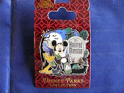Disney * HAUNTED MANSION - CEMETERY CARETAKER MICKEY & PLUTO * New on Card Pin