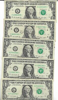 Rare US ☆ Dollar Bill Collectible Paper Money Small Size Note Collection Lot:14