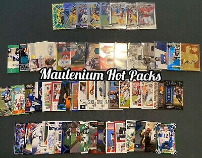 NFL Football Card Mystery Hot Pack! Auto, Jersey, Rookie, #d Hot Packs! 25 Packs