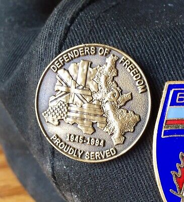 """U.S Army Berlin Brigade - """"Proudly Served"""" Cap Pin (2 for $10)"""