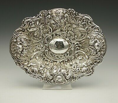 Dominick And Haff 1899 Sterling Silver Repousse Shallow Bowl 116 Grams Stunning