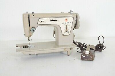 Vintage Singer Model 237 Fashion Mate Sewing Machine with Pedal Needs Work As Is