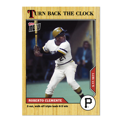 2020 MLB TOPPS NOW Turn Back the Clock #48 Roberto Clemente Pirates PR 1305