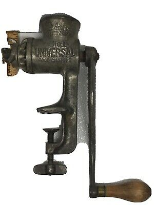 Vintage CAST IRON GRINDER No  1 Universal Manual Heavy Duty