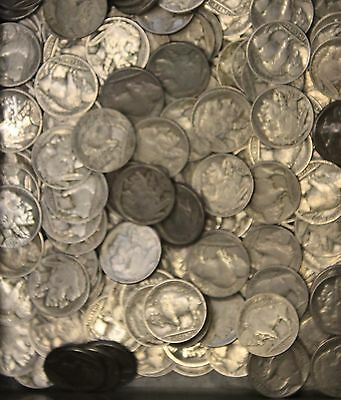 Kappyscoins Lot 10 Rolls 400 Coins Good To Vf Buffalo Nickels  Teens  On P-D-S