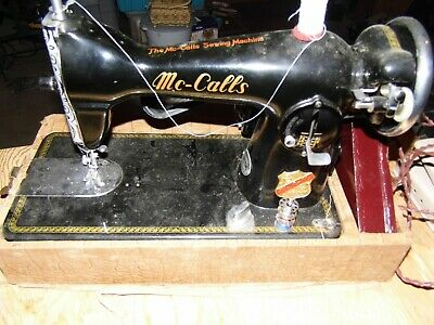 Vintage McCall's Model 24 Sewing Machine With Accessories Fully Working
